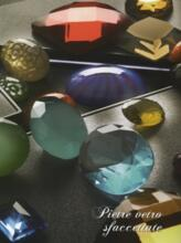 Faceted glass stones